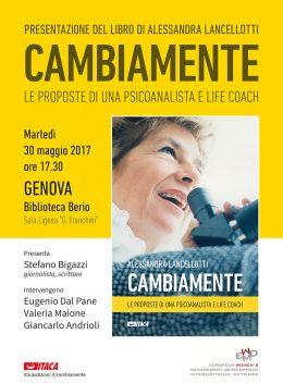 Cambiamente di Alessandra Lancellotti - Presentazione a Genova 30.5.2017