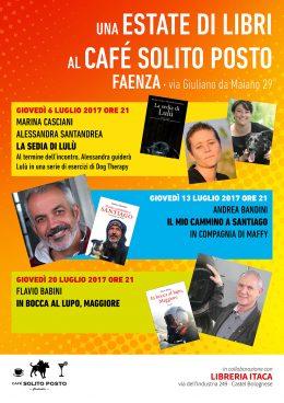 Cafe Solito Posto locandina estate 2017