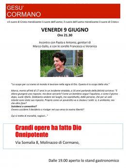 Marco Gallo presentazione Cormano