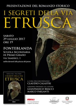 Segreti via etrusca FONTEBLANDA locandina web