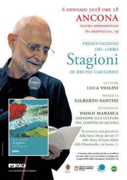 Stagioni di Bruno Cantarini (Itaca 2017) - Presentazione ad Ancona 6.1.2018