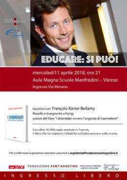 François-Xavier Bellamy a Varese - 11 aprile 2018