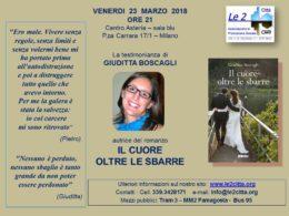 """""""Il cuore oltre le sbarre"""". Testimonianza di Giuditta Boscagli - Milano 23 marzo 2018"""