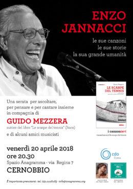 """Enzo Jannacci: le sue canzoni, le sue storie, la sua grande umanità - Con Guido Mezzera, autore di """"Le scarpe del tennis"""" - Cernobbio 20 aprile 2018"""