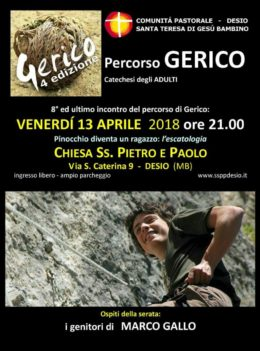 """""""Marco Gallo"""" - Testimonianza dei genitori a Desio - 13 aprile 2018"""