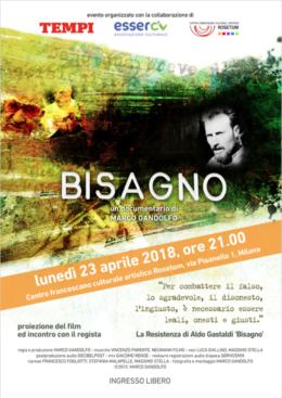 """""""Bisagno"""" - Proiezione del film e incontro con Marco Gandolfo - Milano 23 aprile 2018"""