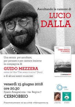 """Ascoltando le canzoni di Lucio Dalla - Con Guido Mezzera, autore di """"Caro amico ti scrivo"""" - Cernobbio 15 giugno 2018"""