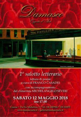 Salotto letterario con Franco Casadei - Cesena 12 maggio 2018