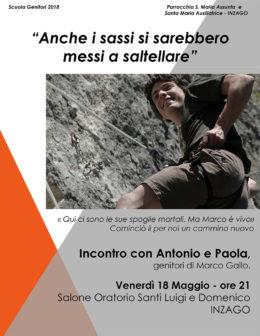 Marco Gallo - Presentazione a Inzago - 18 maggio 2018