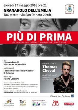 """Più di prima - tratto da """"La sedia di Lulù"""" - Granarolo dell'Emilia 17 maggio 2018"""