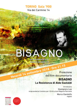 Bisagno - Presentazione a Torino - 14 settembre 2018