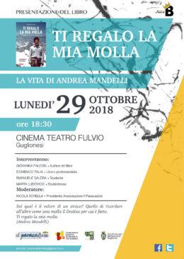"""""""Ti regalo la mia molla"""" - Presentazione del libro a Guglionesi (CB) 29 ottobre 2018"""