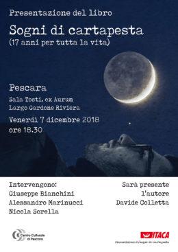 Sogni di cartapesta - presentazione a Pescara - 7 dicembre 2018