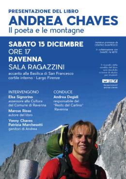 """""""Andrea Chaves. Il poeta e le montagne"""" - Presentazione a Ravenna - 15 dicembre 2018"""