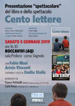 Cento lettere - Presentazione del libro e dello spettacolo a Roccavivi (AQ) - 5 gennaio 2019