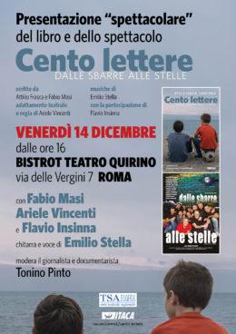 Cento lettere - Presentazione del libro e dello spettacolo a Roma - 14 dicembre 2018