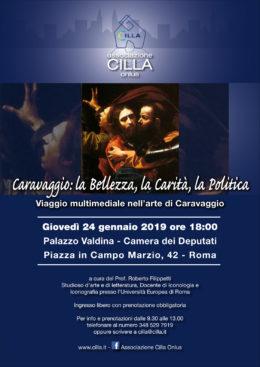 Viaggio multimediale nell'arte di Caravaggio - Roberto Filippetti a Palazzo Aldina-Camera dei deputati di Roma - 24 gennaio 2019