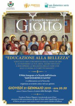 Il Vangelo secondo Giotto - Roberto Filippetti a Losson della Battaglia (VE) - 31 gennaio 2019