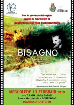 """""""Bisagno"""". Proiezione del film documentario a Correggio (RE) - 13 febbraio 2019"""