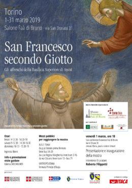 San Francesco secondo Giotto - Roberto Filippetti a Torino - 1 marzo 2019