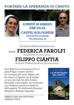 La montagna del vento - Filippo Ciantia a Castel Bolognese, 18 marzo 2019