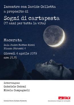 Sogni di cartapesta - Incontro con Davide Colletta a Macerata - 4 aprile 2019