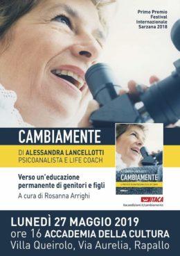 Cambiamente di Alessandra Lancellotti - Presentazione a Rapallo - 27 maggio 2019
