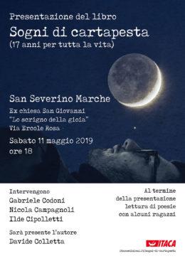 Sogni di cartapesta - Presentazione a San Severino Marche - 11 maggio 2019