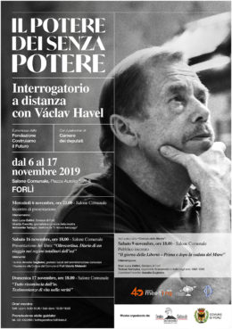 Il potere dei senza potere - Presentazione della mostra su Václav Havel a Forli - 6 novembre 2019