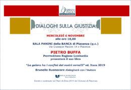 La galera ha i confini dei vostri cervelli - Pietro Buffa presenta il suo libro a Piacenza il 6 novembre 2019