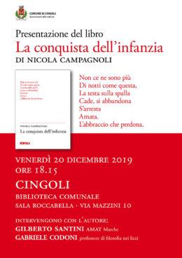 La conquista dell'infanzia - Presentazione a Cingoli (MC) 20.12.2019