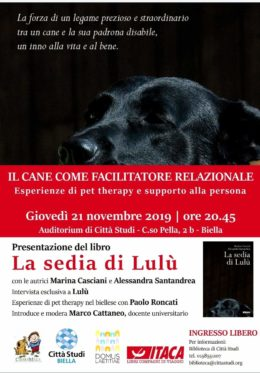 La sedia di Lulù - Presentazione a Biella - 21.11.2019