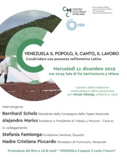 Venezuela il popolo il canto il lavoro - Milano 11.12.2019