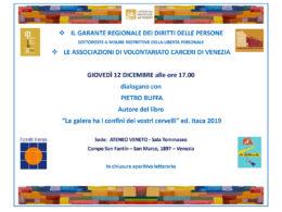 La galera ha i confini dei vostri cervelli - Pietro Buffa a Venezia 12.12.2019