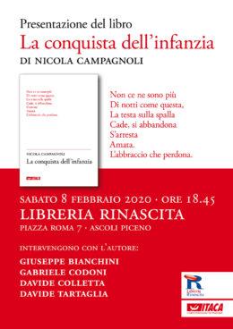 La conquista dell'infanzia di Nicola Campagnoli - Ascoli Piceno 8 febbraio 2020